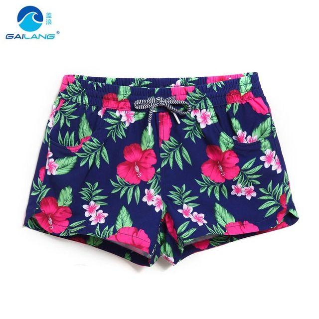 Lady shorts de conseil courtes maillots de bain fleurs parttern sexy à séchage rapide femelle shorts de course joggeurs femme conseil sueur