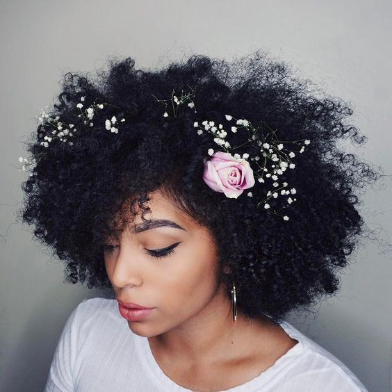 Wedding Hairstyle For Natural Curly Hair: Pinterest : @baddiebecky21