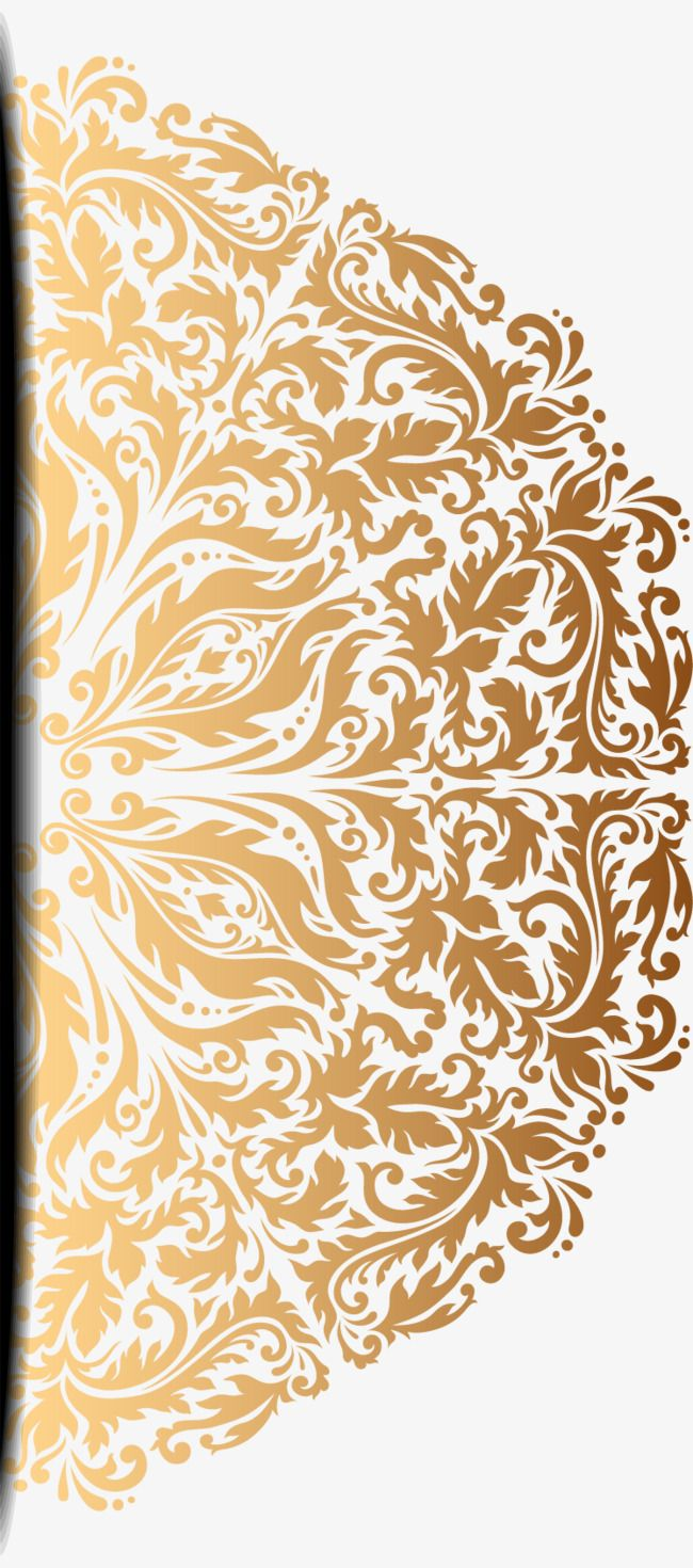 Vector Painted Gold Pattern Vector Hand Painted Gold Pattern Png Transparent Clipart Image And Psd File For Free Download Gold Pattern Islamic Art Pattern Gold Leaf Art