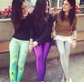 Purple and silver shiny and banana genesis #pcpleggings   #pcpclothing #pcpinia