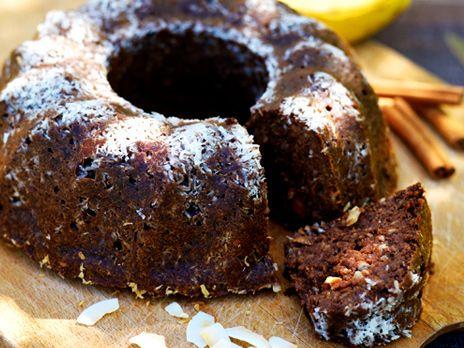 Banankaka med choklad