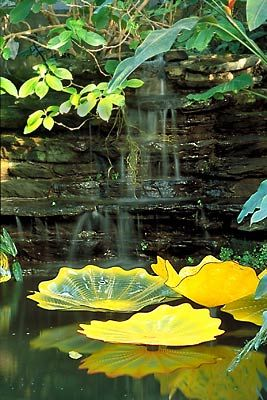 Dale Chihuly Glass Water Feature