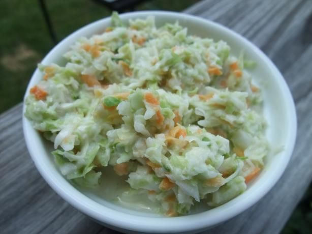 Authentic KFC Coleslaw Recipe- The secret is Tarragon Vinegar. I make this for everything I have to bring a covered dish to and it ALWAYS gets GREAT reviews! People who don't even like cole slaw LOVE this! I substitute 2-3 bags of shredded cole slaw mix rather than cut up cabbage and carrots- takes only 5 minutes to make!