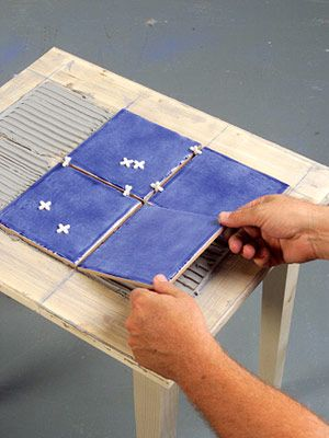 This story shows you the steps for tiling a small tabletop.