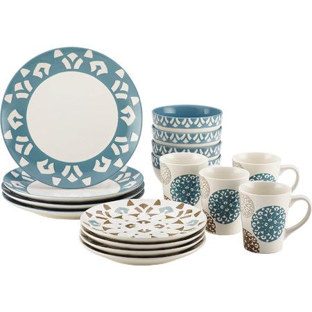Adorned with a bold medallion pattern, this stylish dinnerware set is equally perfect for special occasions or everyday dinners.  Pr...