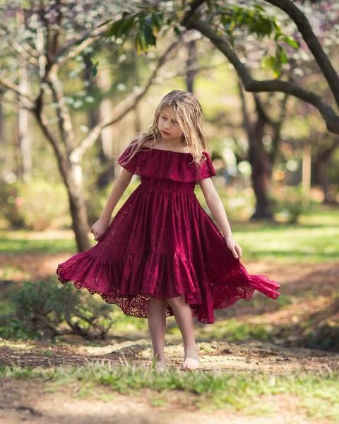 c87ac9727 Calista High Low Lace Burgundy Dress in 2019