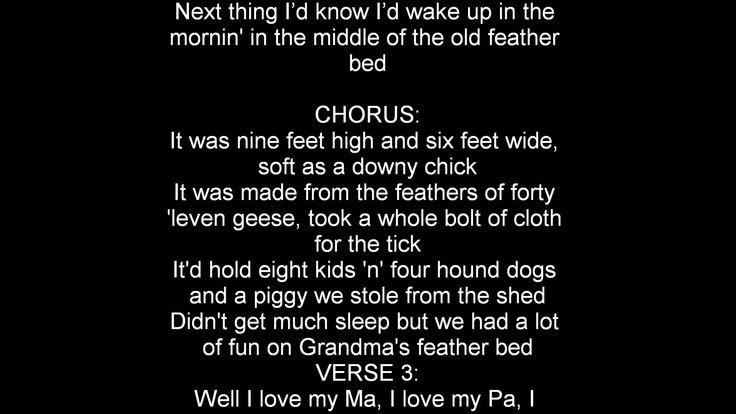 John Denver Grandma's Feather Bed lyrics