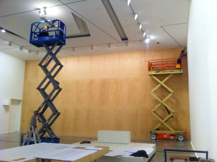 Installing the Design Wall #MelbourneNow NGV Australia. Curated by Simone LeAmon, exhibition design CarterLeAmon.