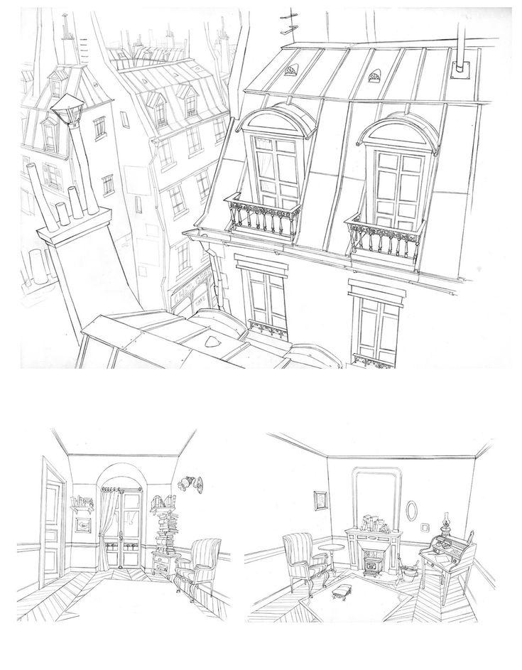 Incríveis desenhos de Paul Mager para o filme Um Montro em Paris | THECAB - The Concept Art Blog