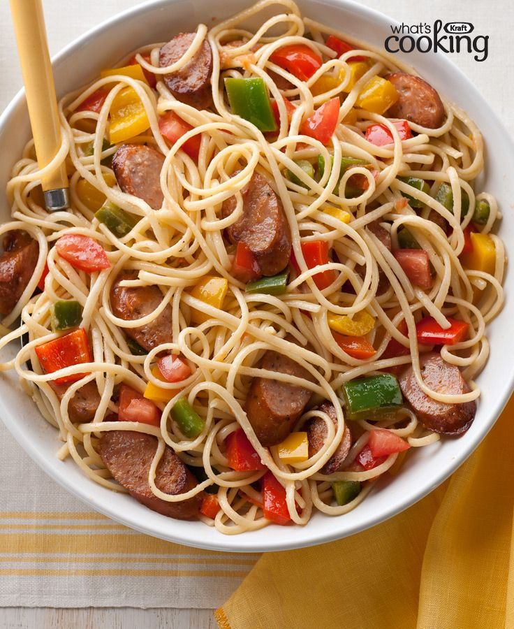 190 best pasta recipes images on pinterest alfredo pasta bake sausage peppers tomatoes with linguine recipe kraft recipespasta recipesdinner forumfinder Image collections
