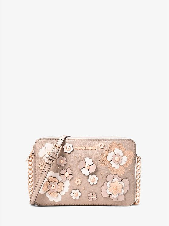 dcd2ed7568b7 Jet Set Floral Embellished Leather Crossbody | mk | Pinterest | Sac ...