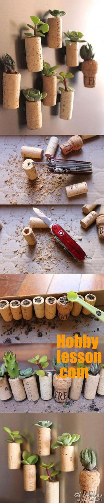 Wine-Cork-Craft-Ideas-We-Have-Seen-So-Far || Cork Craft Ideas || Wine Bottle Cork Planters