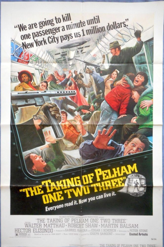 THE TAKING OF PELHAM 123 MOVIE POSTER Walter Matthau Robert Shaw Suspense 1974 -Watch Free Latest Movies Online on Moive365.to
