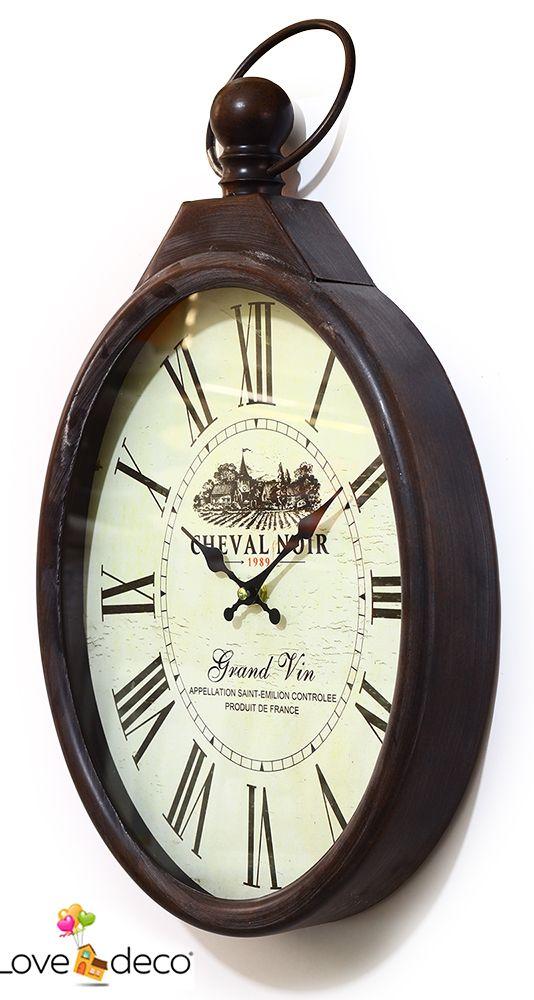 Ρολόι Τοίχου Cheval Noir 35€ http://www.lovedeco.gr/p.Roloi-Toichou-Cheval-Noir.787345.html