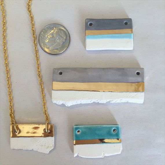 Hey, I found this really awesome Etsy listing at https://www.etsy.com/listing/269592521/ceramic-and-22kt-gold-bar-pendants