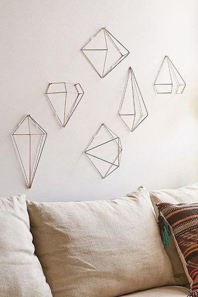 Go Geo Geometric Decor Copper Decor Wall Decor Set