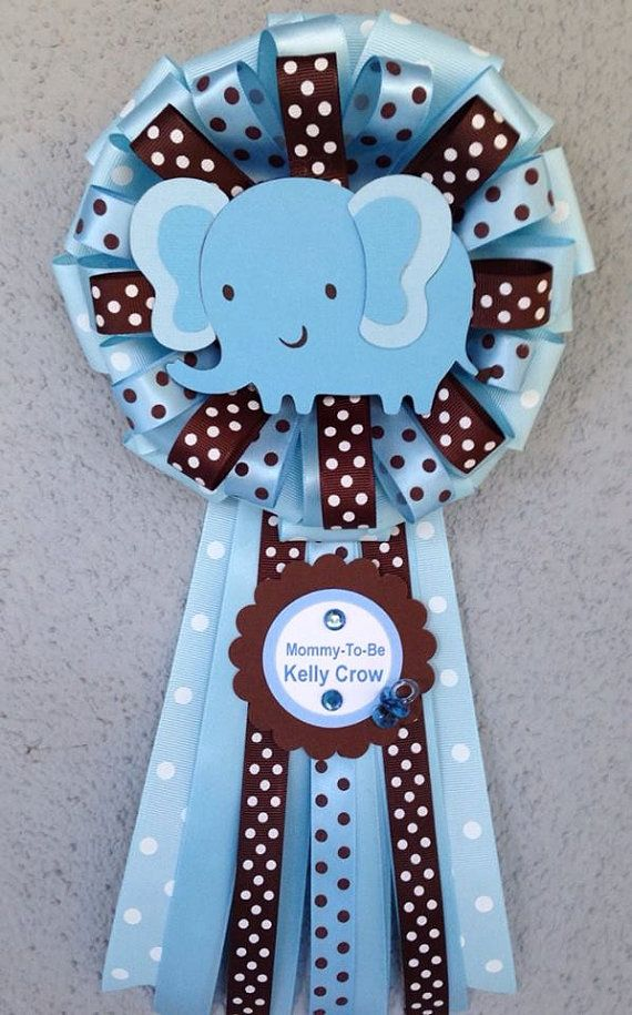 Baby Blue Baby Elephant MommyToBe Corsage. by designsbyemilys
