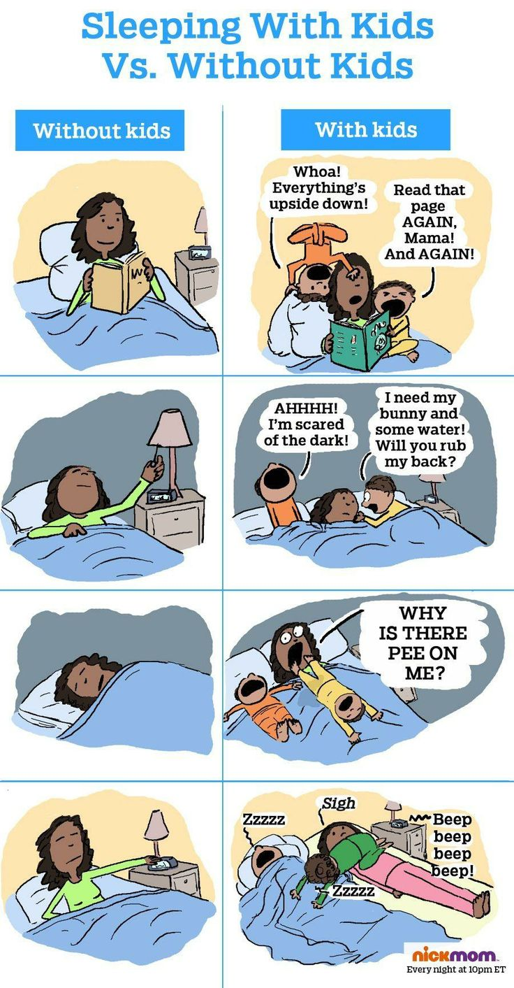 Here is what kids do to your sleep (in cartoon form).