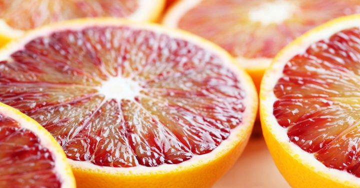 Blood oranges derive their lovely, rich red coloring from a rather remarkable compound that goes by the name of cyanidin 3-glucoside (C3G).  Scientists have discovered that C3G is not only active at 100% success against cancer cells in vitro  but also reduced actual lung tumors in mice by 50% & suppressed metastasis by over 70%!
