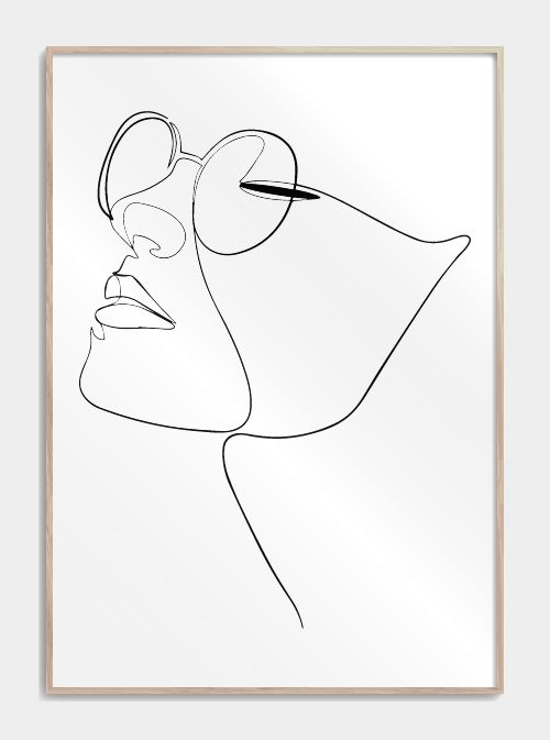 Womans face in one line – Karinna Williams