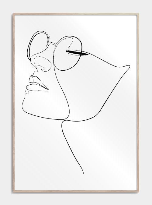 Womans face in one line – Andrea Dechange