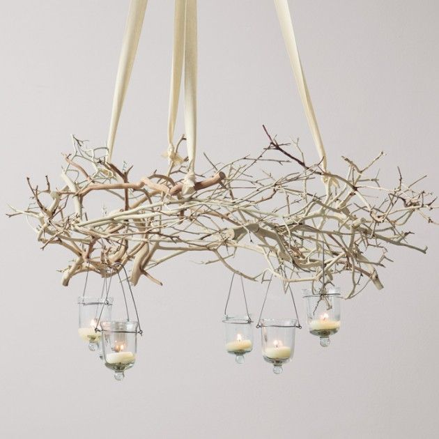 25 Amazing DIY Branches Chandeliers. Very pretty and with the pictures for inspiration and a little imagination, these are very doable!