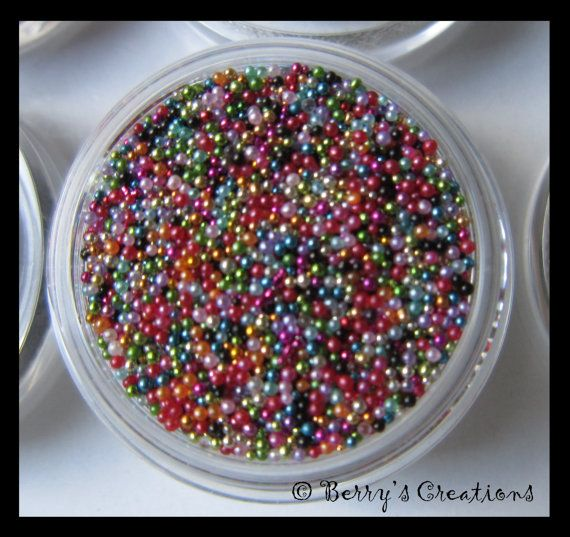 Color Rainbow. Micro Beads. Fish Eggs. Caviar by BerrysCreations, $4.00