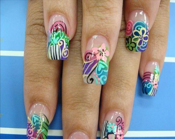 34 best fantasy nail art images on pinterest enamels make up nail art airbrush fantasy flowers prinsesfo Choice Image