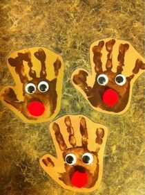 handprint reindeer - These would be good for gift tags.