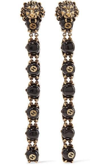 Gucci - Gold-tone Bead Clip Earrings - One size