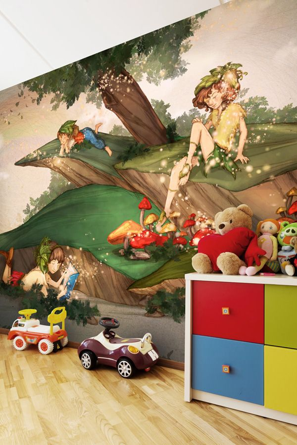 Add character to your playroom with this cute wallpaper mural by Turine Tran. Made to fit your wall perfectly, this kids wallpaper features beautiful colors to create the ultimate children's feature wall. For this and more kids murals, visit Wallsauce.com