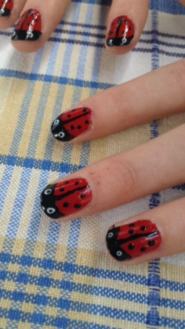 Ladybird nail art