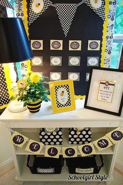 honey bee classroom theme :>) . . . may add more yellow than black to make it a little brighter