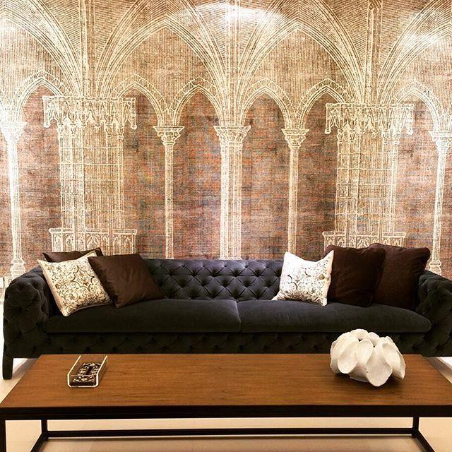 Wall Deco Wallpaper Instadesign Residential Project Ksa Eclectic Sofa
