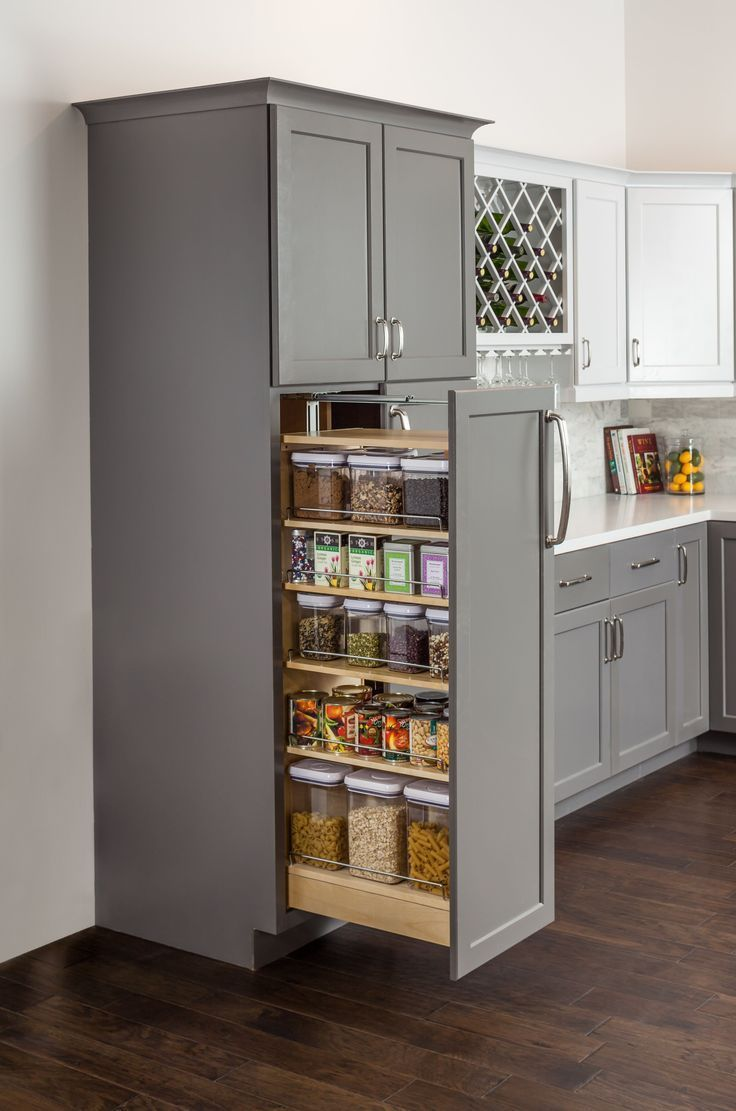 Wood Cabinet Pull Out Pantry In 2020 Kitchen Design Small Kitchen Decor Inspiration Kitchen Pantry Design
