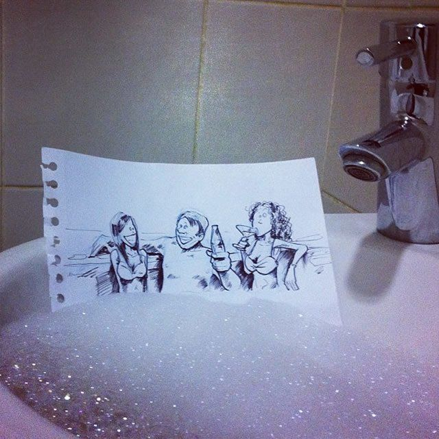 The Bubble Bath  18 Creative & Arty Cartoon Bomb Drawings That Will Leave You Amazed • Page 3 of 5 • BoredBug