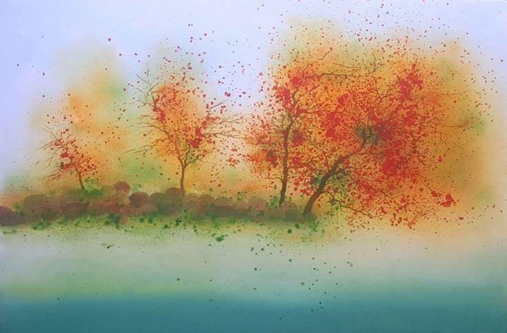 """Euphoria"", an oil colour painting on canvas by a fine artist Bhanupratap Khare"