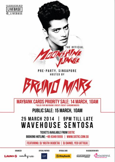 Bruno Mars is in the house! Party up a storm at Wavehouse Sentosa with the singer-songwriter and local DJs