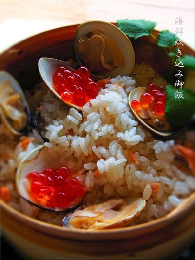 蛤・鮭・桜えび・いくらの海鮮炊き込みご飯♪ by やちゃmaruさん ...