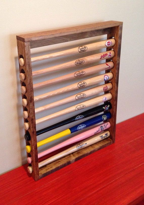 Mini Baseball Bat Display Holder Rack Table top or by 2Markers