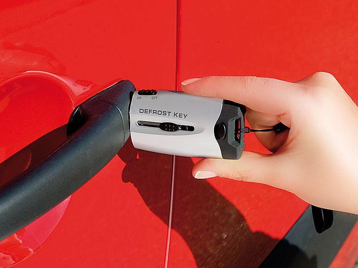 Lescars Batteriebetriebener Autoschloss Enteiser mit LED Licht