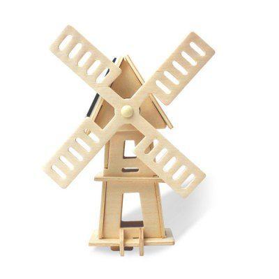 Llévalo por solo $32,100.Molino de viento solar W120 rompecabezas bloques de construcción de juguete de bricolaje Ambiental.