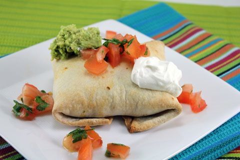 Baked Chicken Chimichangas from We Are Not Martha.