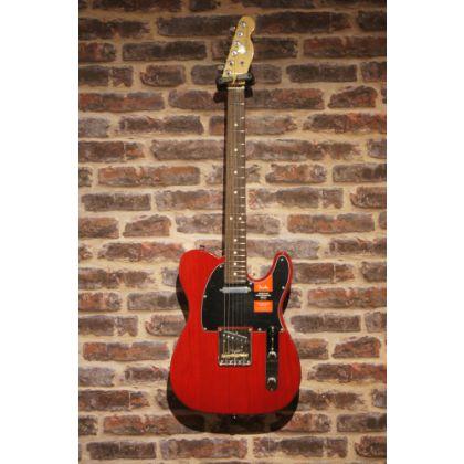 Guitare electrique Fender american pro telecaster crimson red transparent