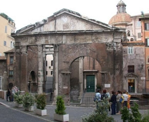 The past and present always mingle in Rome: i.e the Portico di Ottavia, built around after 27 BC in order to enclose 2 temples, was used as a fish market from the medieval period, and up to the end of 19th century.