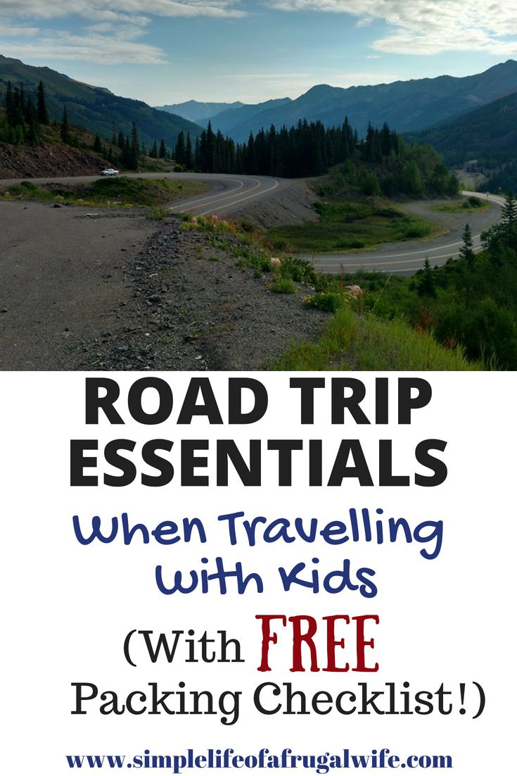 Road trips with children take a little more planning.  Don't forget any of the road trip essentials for your next travelling adventure.  Print off the free checklist to make your planning easier!