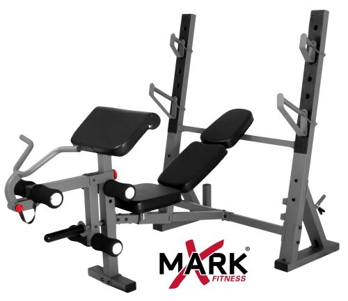 Wonderful Buy XMark Fitness International Olympic Weight Bench With Leg Extension And  Preacher Curl Attachment The XMark
