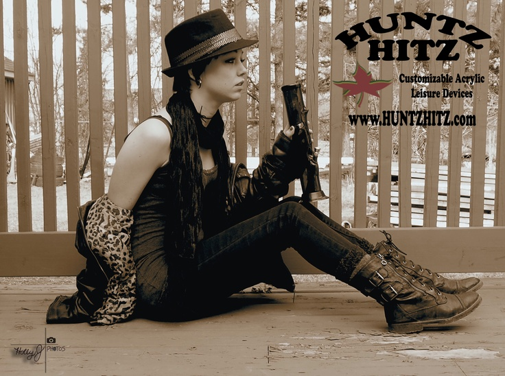 Stunning model Kelsea Babcock for www.huntzhitz.com - customizable acrylic bongs - order online!