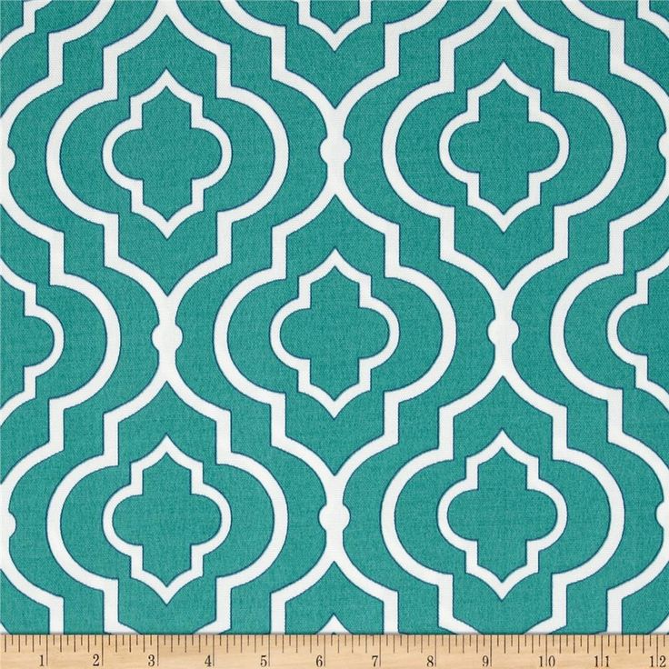 """Swavelle/Mill Creek Indoor/Outdoor,  Starlet in Teal // $9 per yard // 54"""" medium weight // hand wash with mild detergent // also available in Peacock (dark teal) garden cushions"""