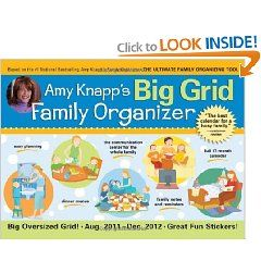 2012 Amy Knapp`s Big Grid Family Organizer wall calendar: The essential organization and communication tool for the entire...